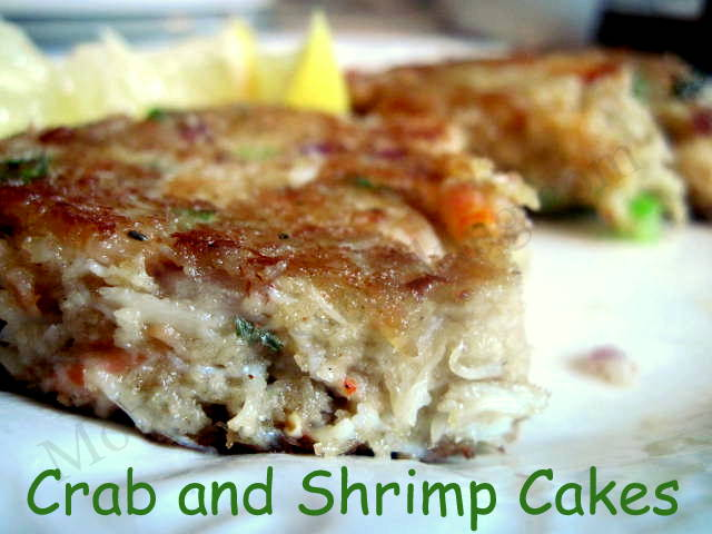 Crab and Shrimp Cakes - Moore or Less Cooking Food Blog