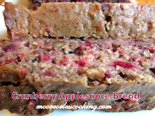 CRANBERRY APPLESAUCE BREAD