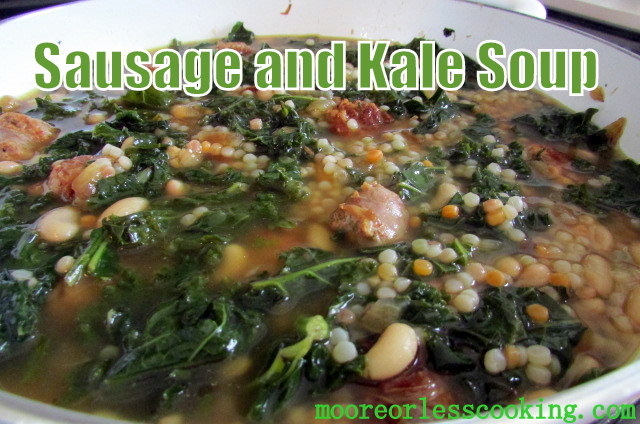 KALE, SAUSAGE AND WHITE BEAN SOUP