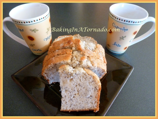 Almond Poppy Bread with Lemon Drizzle - Baking In A Tornado