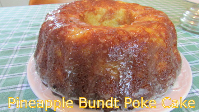Pineapple Coconut Poke Bundt Cake